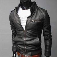 Nueva chaqueta de cuero Laamei Hombres Primavera Otoño Chaqueta fina Hombres Slim Fit Abrigo Boutique de alta calidad Marca Casual Chaquetas de mezclilla Moda