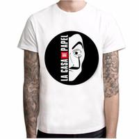 T-Shirt Männer Lustiges Design La Casa De Papel Rundhalsausschnitt Geldraub T-Shirts TV-Serie T-Shirts Kurzarm House of Paper Polyester