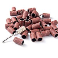 100pcs / pack 80 # 120 # 180 # Nail art bandes abrasives pour ongles Bits Manucure l'affûtage d'outils Bague machine électrique Accessoires