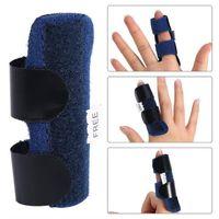 조정 가능한 테이프 붕대로 도매 고통 릴리프 알루미늄 핑거 부목 골절 보호 중괄호 보정 지원