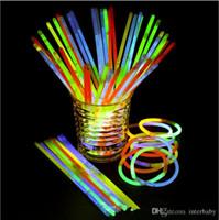Glow Stick Bilezik Salkım Parti Işık Çubuk Wand Yanıp sönen Işık Vokal Konser Flaş Yenilik Oyuncak Festivali Sahne Dekor TLYP309 Sticks