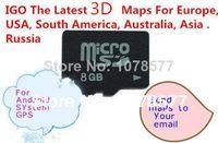 IGO GPS carta di carta di deviazione standard ci ha 8 GB con GPS lastest mappe Europa, USA, Sud America, Australia, Asia sistema di spedizione gratuita per Android