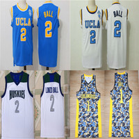 Losangeles 1 Lonzo Ball Jerseys # 2 UCLA Bruins college maglie da baskey cucito luce blu bianco Chino Hills huskies magliette scuola superiore
