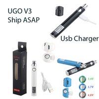 Ugo V3 Vape Pen Batterie 510 Discussione Batterie ricaricabili di preriscaldamento del caricatore regolabile Tensione 650 mAh USB olio Cartucce