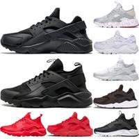 Huarache Koşu Ayakkabıları Erkekler Kadınlar Spor Ayakkabıları Üçlü Siyah Beyaz Altın Huraches 1.0 Açık Sneakers ABD 5.5-11