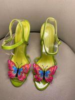 Nouvelle marque 2020 sandales papillon femmes mignonnes fleurs hauts talons Lady Spartiates mode chaussures Parti Bohemian mariage Chaussures
