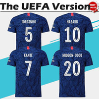 The UEFA #10 HAZARD Home Blue Jerseys #7 KANTE #9 HIGUAIN 19...