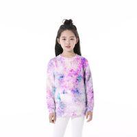 Kadın Hoodies Tişörtü Anti-Sami 3D Baskı Pin'k Çocuk O-Boyun Bebek Erkek Kız Çocuk Uzun Kollu Çocuk Giysileri