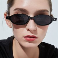 Cool Women' s Sunglasses Rivet Oval Fashion Small Frame ...
