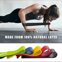 Resistência Rubber 5 cores Elastic Yoga Assist Bandas Gum para equipamentos de fitness Banda Exercício do exercício Tração da corda FY7008 estiramento Formação Cruz