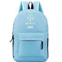 أجنحة ظهره BTS K حزمة يوم البوب Bangtan Boys music school bag جودة packsack الترفيه حقيبة الظهر الرياضة المدرسية daypack في الهواء الطلق