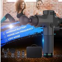 4000r / min terapia di massaggio Guns 3 Gears Massager del muscolo Dolore Sport macchina di massaggio relax corpo dimagrante Relief 4 teste con Bag