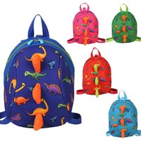 Dinosaur Print Ianti-lost Backpack Kindergarten cartoon Children kids  school bags Animals Smaller baby unisex Dinosaurs Snacks AAA1662 957d6a9acd867