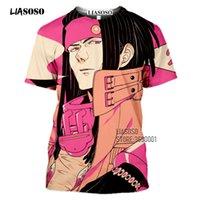 남성용 T 셔츠 Liasoso 3D 인쇄 게임 극적인 살인 티셔츠 여성 DMMD Seragaki Aoba Mink Clear Tshirt 여름 캐주얼 셔츠 Streetwear