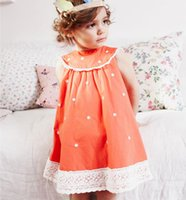 New Arrivals Retail Baby Girls Dresses Dot Clothing Kids dre...