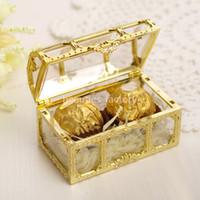 البلاستيك الذهب صندوق كاندي حساس رومانسي صندوق تخزين عرس الحسنات علب الهدايا حزب اللوازم الذهبي أو الفضي المتوسطة الحجم
