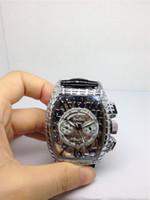 Adam izlemek kuvars kronometre kronograf saatler paslanmaz çelik kol saati deri kayış F02 için yeni moda Paslanmaz izle