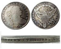 US 1804 drappeggiato busto dollaro araldico aquila argento placcato copia monete mestiere mestiere muore fabbrica fabbricazione prezzo