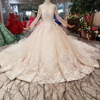2019 Newest Design Wedding Dresses With Detachable Train Ill...