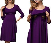 Beiläufige Kleider langen Hülsen-Frauen-Sommer-Kleidung der Frauen Designer Mutterschaft Schwangere Kleider Mode lange Gürtel Damen