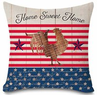pillowcase truck United States National flag printing flax C...