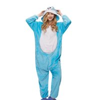 ea356fea4d Animal Blue Shark Unisex Adult Flannel Onesies Pajamas Kigurumi ...