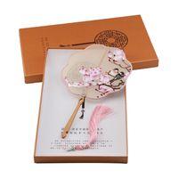 Nowe Multi-Color Silk Handmade Suzhou Haft Fani Dwustronne Hafty Kwiaty Seria wentylatorów z pudełko Słynne chińskie kultury projekt