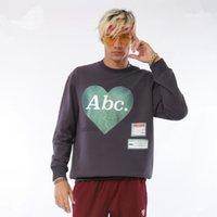Tasarımcı Tişörtü Mürettebat Yaka Uzun Kollu Erkek Giyim Nagri Kalp Gündelik Giyim Erkek Sonbahar Moda yazdır