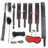 SM couro de pelúcia conjunto de 10 peças Sex Toys Produto Bundle SM Tool Set Toy Adulto Amazon Hot Selling Sextoys