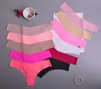 Hot Silk Sexy Frauen Thongs g string Nahtlose Höschen Weibliche Unterwäsche Tanga Höschen Low-Rise Dessous Panty Intimates