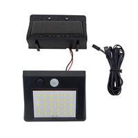 PIR Sensor de movimiento 30LED Luz solar Al aire libre Energía solar LED Luz de jardín Lámpara de pared de emergencia impermeable con cable