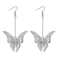 Diamond butterfly earrings silver designer earrings luxury d...