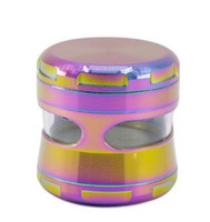 Ice Blue 4 Layer Zinc Alloy Cigarette Grinder Diameter 63mm ...