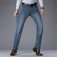 2020 New Fashion Business en denim extensible style classique hommes Regular Straight Fit Jeans Jean Pantalons Homme Pantalons bleu et noir