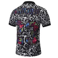 Polo Shirts Men Paisley Flowers Shirt Print Skulls Tops Men Summer Fashion Polo Shirts Designer Polo Shirts Men Fine