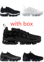 2019 tn mais branco metálico de prata homens negros triplos Running Shoes com caixa de tn mais sneaker trainer sapatos frete grátis