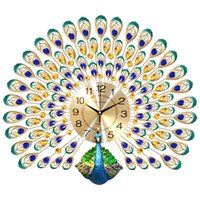 Peacock Wall Clock Living Room European Creative Clock Wall Watches Household Lucky Mute Clocks Modern Decorative Charts