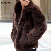 Chaquetas Faroonee capa de los hombres de piel falsa de invierno espesar la piel de imitación caliente Outwear la capa del sobretodo de la manera delgada ocasional de la chaqueta de gran tamaño Y1880 de los hombres de
