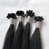"""оптовые 200s / пак 1 г / с 14 «» - 24"""" Кератин Придерживайтесь I Подсказка человеческих волосы перуанского волос 4 # коричневой Быстрая доставка DHL"""
