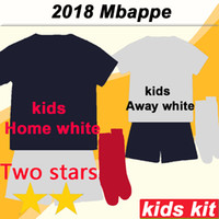 2018 2 Stars MBAPPE GRIEZMANN Kids Kit Home away Soccer Jers...