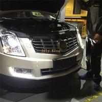 Julio, el rey LED de luces de circulación diurna caso para Cadillac SRX 2010-2015, parachoques delantero LED DRL Con electrochapa la cubierta de niebla de la lámpara, 1: 1 reemplazo
