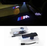 Grolish 2-Pack Porta Do Carro LEVOU Logotipo Projetor Porta Passo Cortesia Luz para BMW M Série Audi