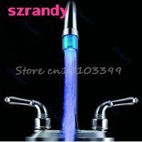 Bathroom Kitchen Mini Blue Glow LED Light Water Stream Fauce...