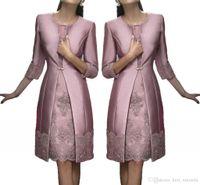 Gelin Elbise Of Vintage Diz Boyu Anne, Off The Gelin Damat Artı boyutu Suits Uzun Ceket AYDINLATMA Dantel Wedding Guest Elbiseler Anne