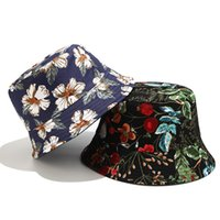 2020 Two Side Reversible Flower Bucket Hat For Women Fisherm...