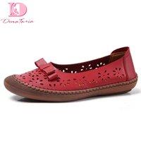 doratasia 2020 grandi dimensioni 45 vera pelle scarpe da barca punta rotonda Slip-On Estate confortevole mamma scarpe da donna casuale della donna appartamenti
