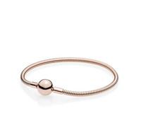 Belles femmes 18K Or Rose 3mm Serpent Chaîne Bracelet Fit Pandora Argent Charmes Perles Européennes Bracelet DIY c68