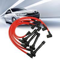 Красные 7 мм красные свечи зажигания провода зажигания набор для Honda Accord 1998-2002 2.3L DX LX Ex Автомобильные мотоциклы зажигания втулки