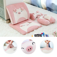 Urijk Portable Memory Foam Cushion Kids Cartoon Travel U Sha...