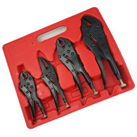 Hohe Qualität 4ST Kraft gesetzt Zange Stahl schwarz Wärmebehandlung Haushaltskombinationswerkzeug Drahtschneider Stripper Crimpen